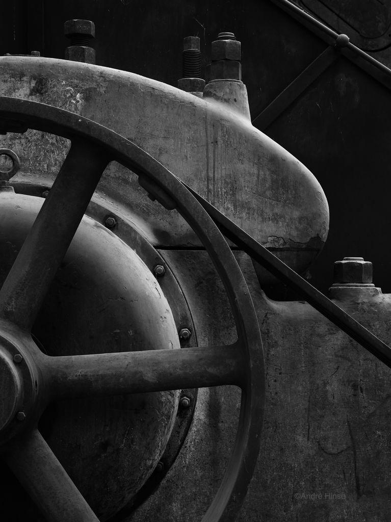 Maschinendetail im Kompressorhaus