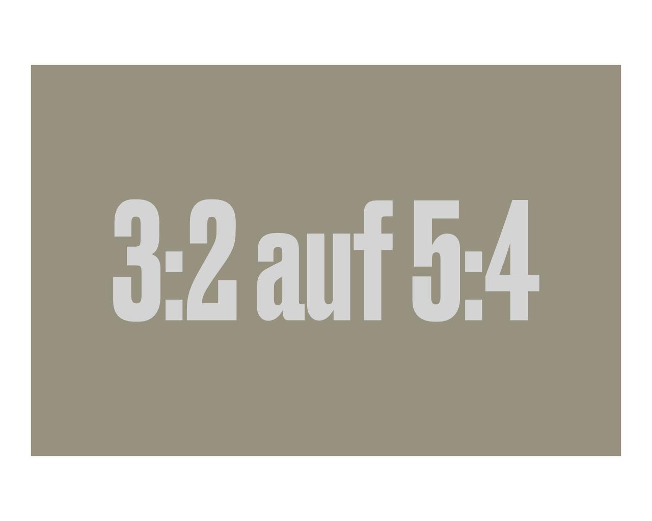 Darstellung der Formate drei zu auf fünf zu vier