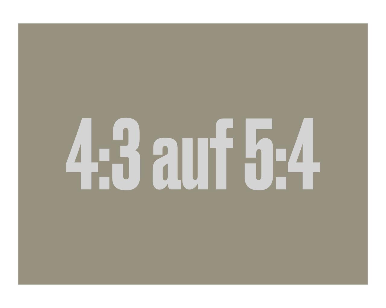 Darstellung der Formate vier zu drei auf fünf zu 4