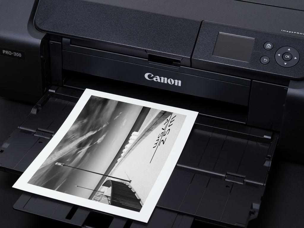 Canon PRO 300 mit Schwarzweißdruck auf Canson Baryta II
