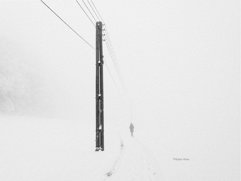 Schneebild von artgrey auf arches bfk rives