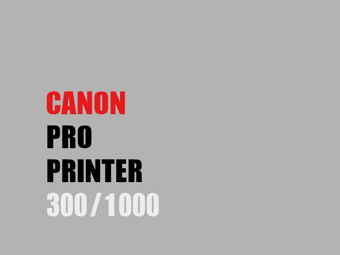 Canon PRO Printer Vergleich